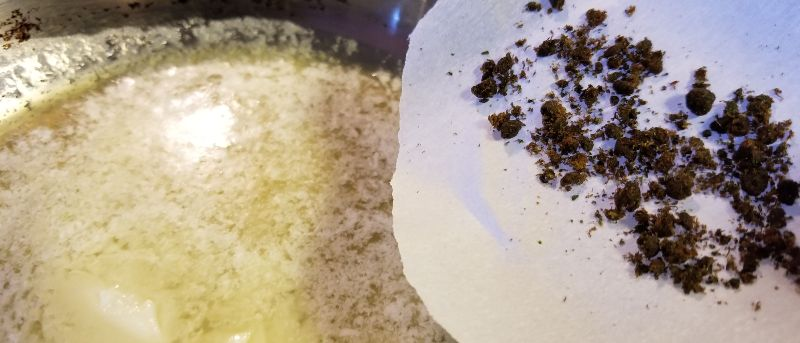 Using decarbed bubble hash is essential when learning how to make cannabutter from bubble hash.